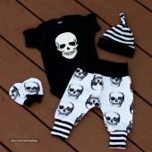 Punk Skull  Newborn Baby Boys Set