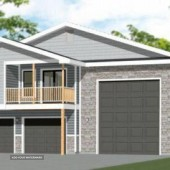 44x48 Apartment with 2-Car 1-RV Garage - PDF FloorPlan - 1,645 sqft - Model 1H